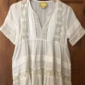 Anthropologie Maeve Lace Top - Off White - Small